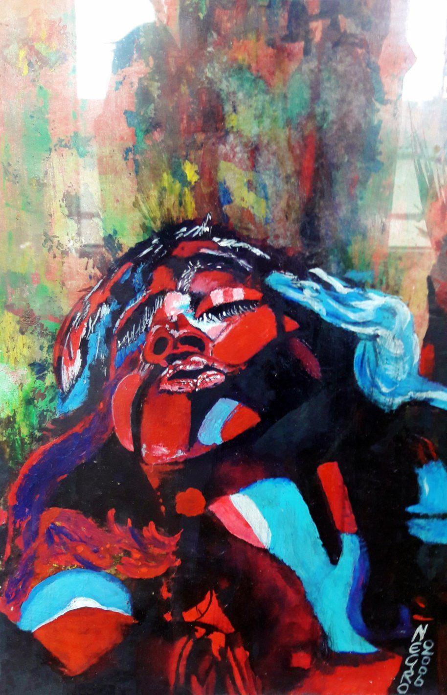 HOHLBAUM.ART I Negro I Red and Blue