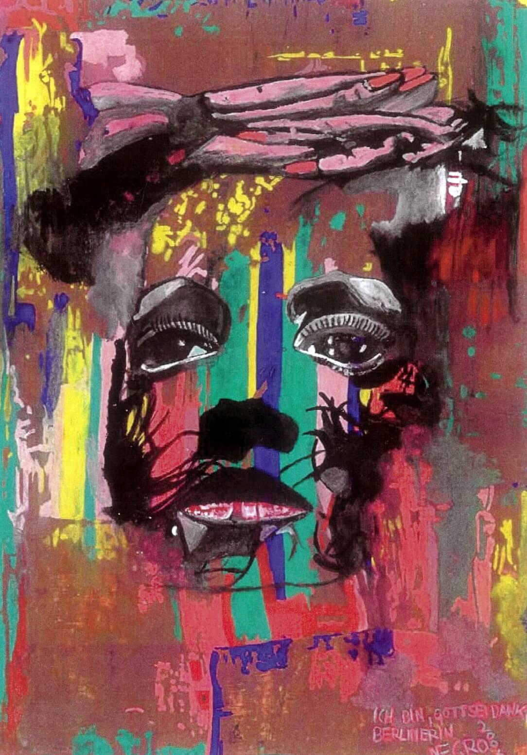 Hohlbaum Art I Negro I Ich bin Gott sei Dank Berlinerin