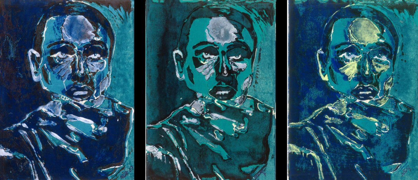 Hohlbaum Art I Negro I Selbstportrait Triptychon