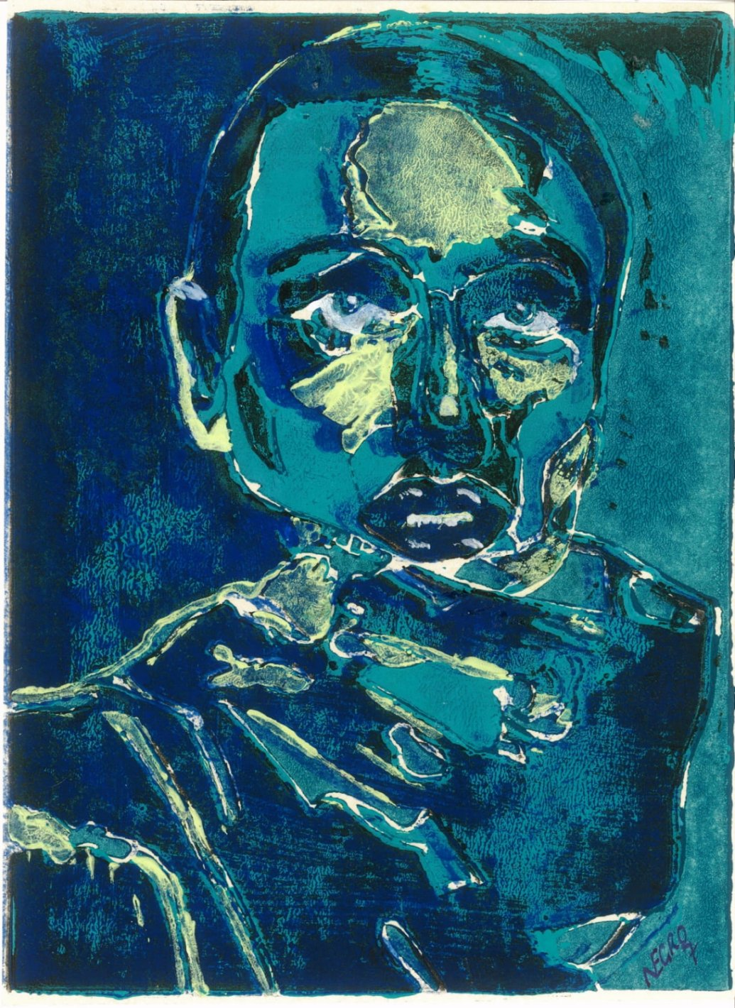 Hohlbaum Art I Negro I Selbstportrait Triptychon II