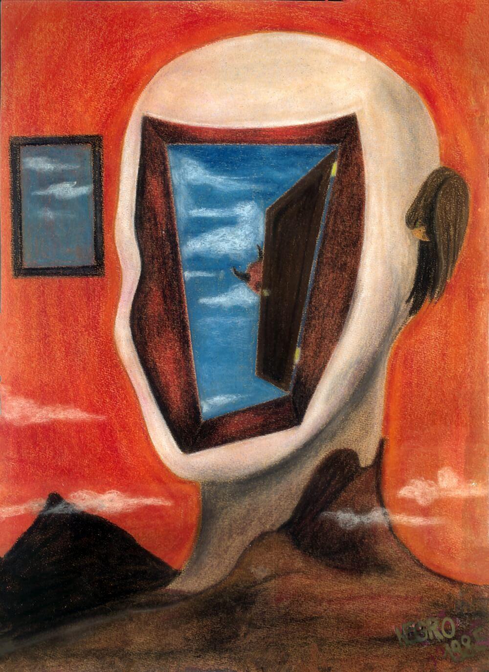 Hohlbaum Art I Negro I Kreidezeichnung