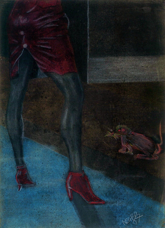 Hohlbaum Art I Negro I Kreidezeichnung II