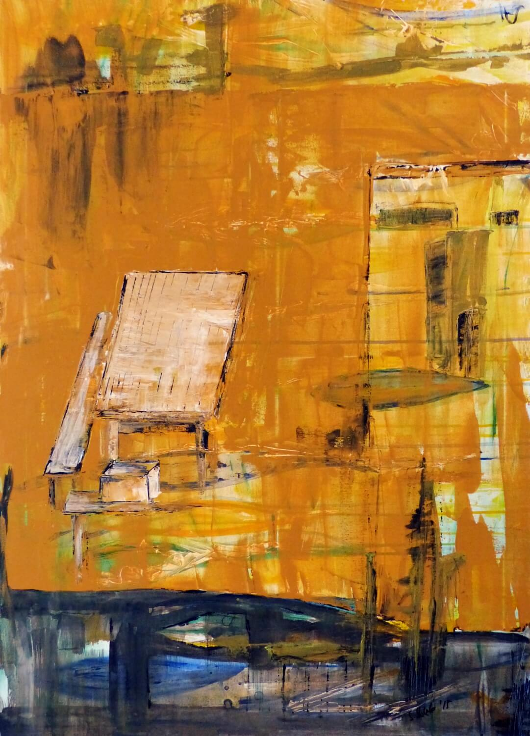 Hohlbaum Art I Sonja Leona I Situation Yellow Ochre