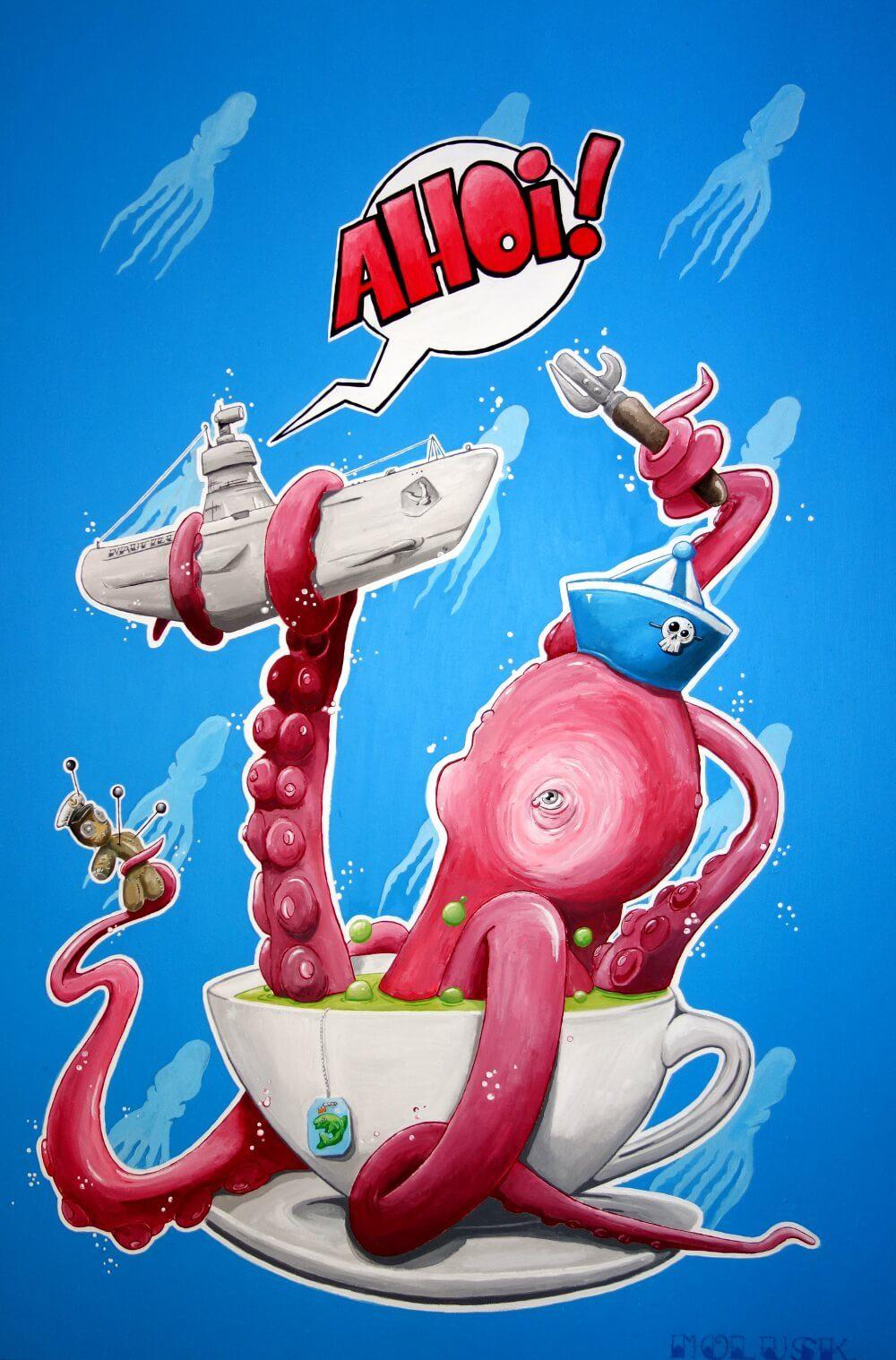 Ahoi Findet Nemo Acryl auf Leinwand